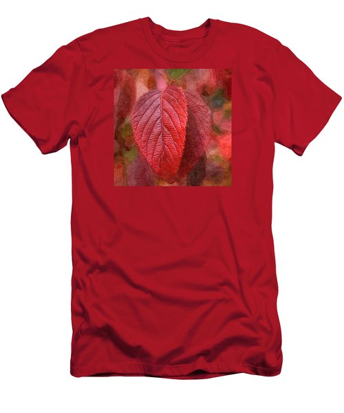 Fall Crimson Men's T-Shirt (Slim Fit) by Nick Kloepping