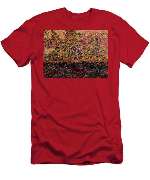 Men's T-Shirt (Athletic Fit) featuring the digital art Fall Homage To Jackson by Walter Fahmy