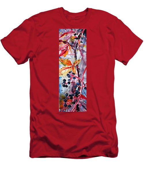 Men's T-Shirt (Slim Fit) featuring the painting Fall II by Kovacs Anna Brigitta
