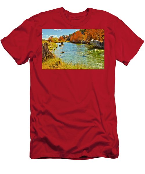 Fall On The Medina River Men's T-Shirt (Athletic Fit)