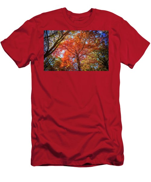 Fall Red Men's T-Shirt (Athletic Fit)