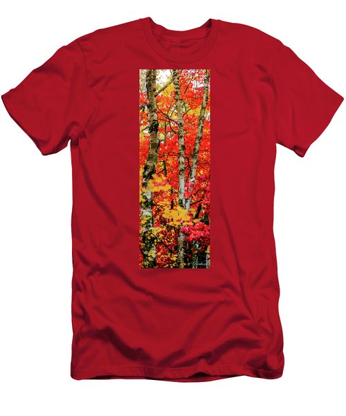 Fall Reds Men's T-Shirt (Athletic Fit)