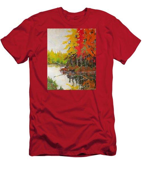 Fall Scene Men's T-Shirt (Slim Fit) by David Gilmore