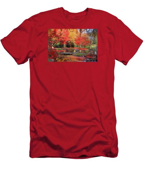 Men's T-Shirt (Slim Fit) featuring the photograph Fall Spendor by Geraldine DeBoer
