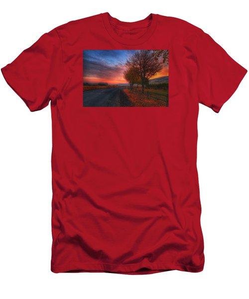 Fall Sunrise Men's T-Shirt (Athletic Fit)