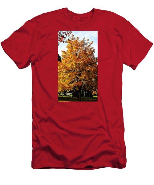 Fallish Yellowish Men's T-Shirt (Slim Fit) by Jana E Provenzano