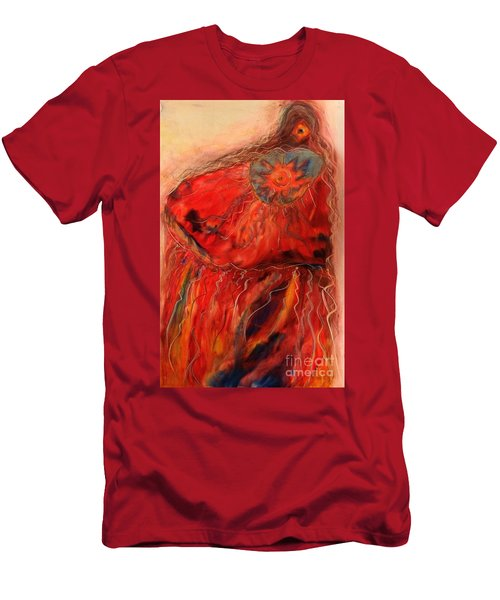Fancy Shawl Dancer Men's T-Shirt (Slim Fit) by FeatherStone Studio Julie A Miller