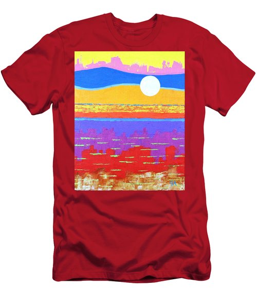 Fauvist Sunset Men's T-Shirt (Slim Fit) by Jeremy Aiyadurai