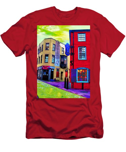 Faux Fauve Cityscape Men's T-Shirt (Athletic Fit)