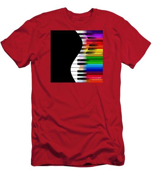 Men's T-Shirt (Slim Fit) featuring the digital art Feel The Music by Klara Acel