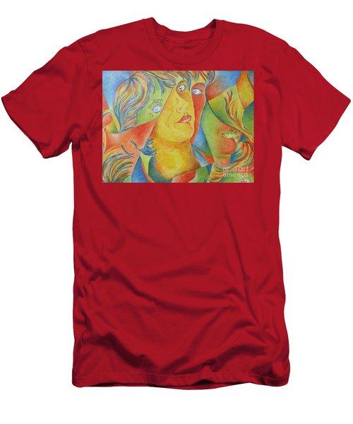 Femme Aux Trois Visages Men's T-Shirt (Athletic Fit)