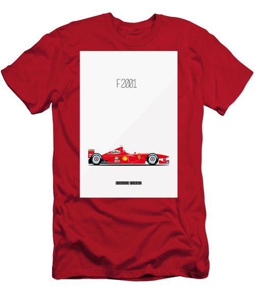 Ferrari F2001 F1 Poster Men's T-Shirt (Athletic Fit)