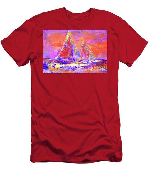 Festive Sailboats 11-28-16 Men's T-Shirt (Athletic Fit)