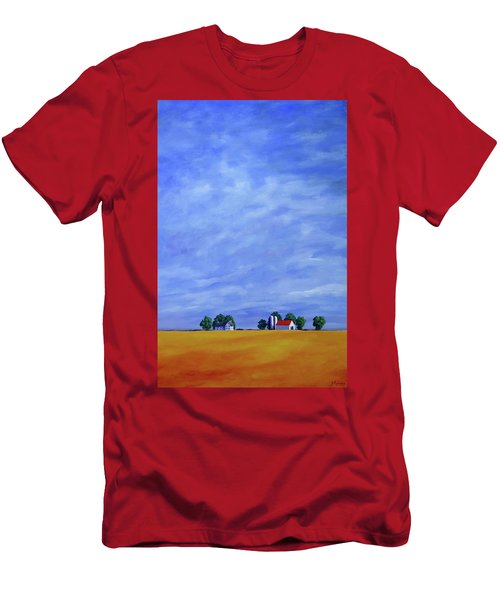 Men's T-Shirt (Slim Fit) featuring the painting Fields Of Gold by Jo Appleby