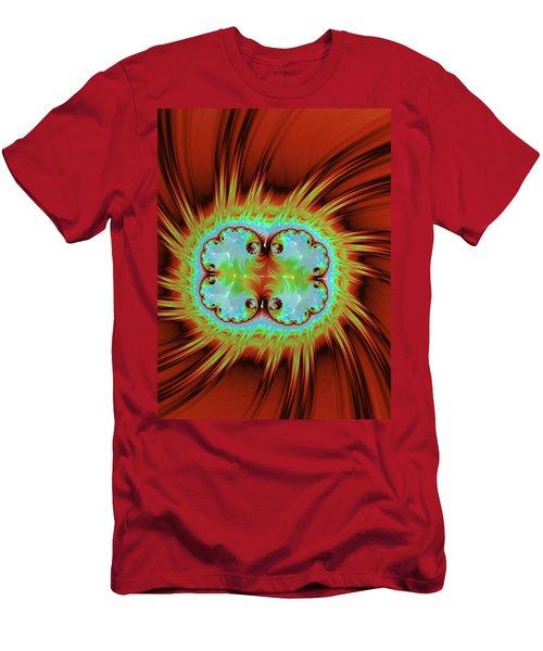 Fiery Glow Men's T-Shirt (Slim Fit) by Rajiv Chopra