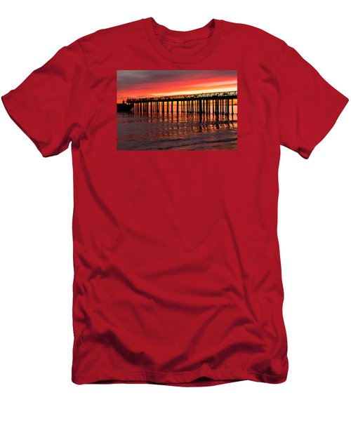 Fire In The Sky Men's T-Shirt (Slim Fit) by Lora Lee Chapman