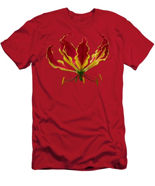 Fire Lily Men's T-Shirt (Athletic Fit)