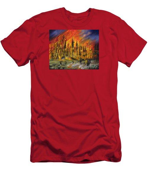 Fire Line 1 Men's T-Shirt (Athletic Fit)