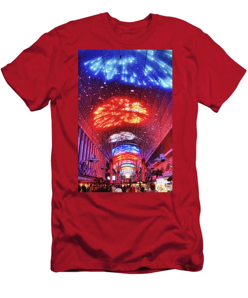 Fireworks Display In Las Vegas Men's T-Shirt (Athletic Fit)