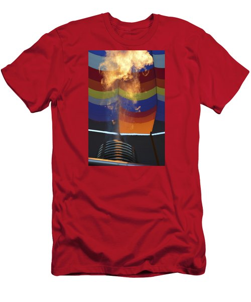Men's T-Shirt (Slim Fit) featuring the photograph Firing Up by Linda Geiger