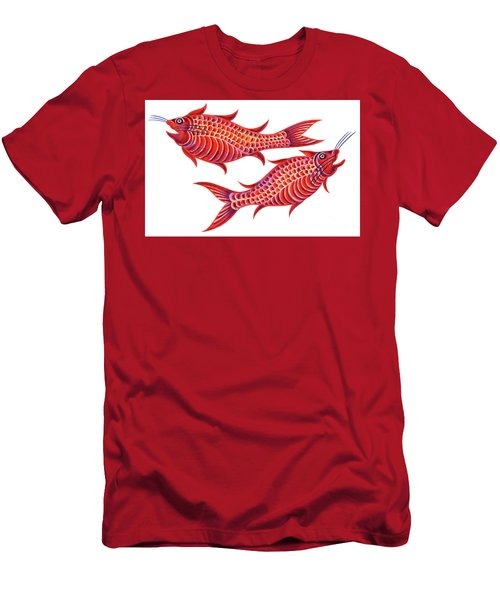 Fish Pisces Men's T-Shirt (Slim Fit) by Jane Tattersfield