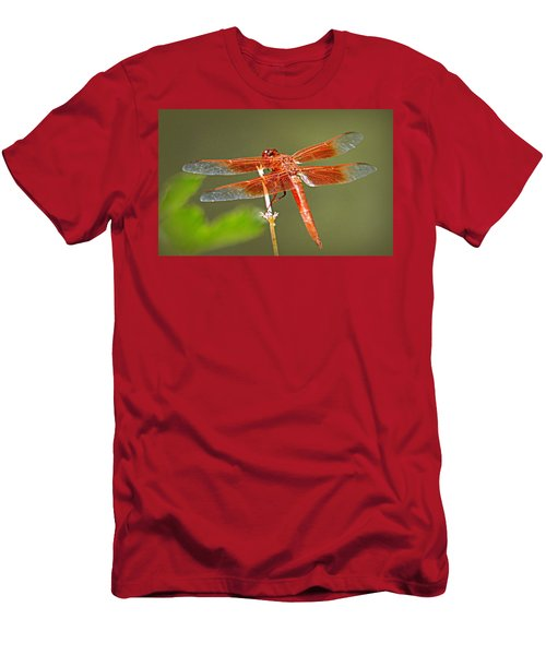Men's T-Shirt (Slim Fit) featuring the photograph Flame Skimmer by AJ Schibig