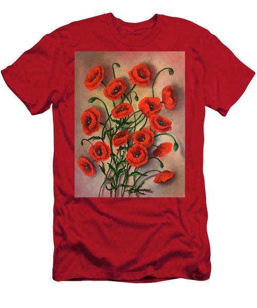 Flander Poppies Men's T-Shirt (Athletic Fit)