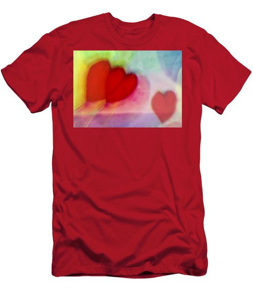 Floating Hearts Men's T-Shirt (Athletic Fit)