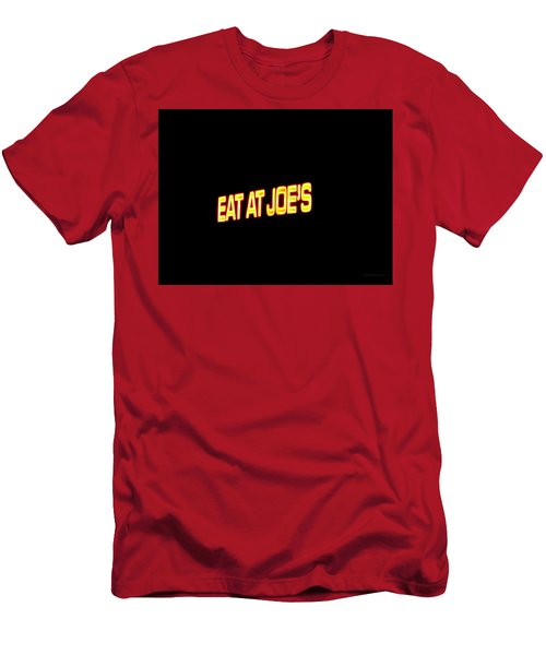 Floating Neon - Eat At Joes Men's T-Shirt (Athletic Fit)