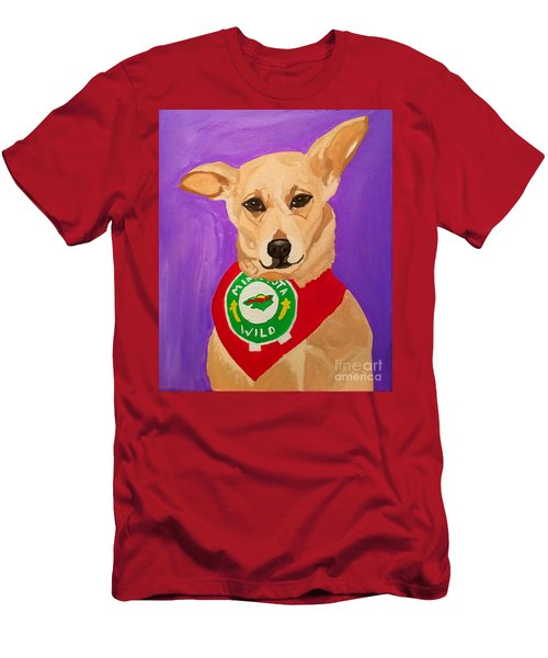 Men's T-Shirt (Slim Fit) featuring the painting Floppy Ear by Ania M Milo