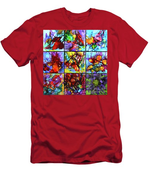 Floral Air Men's T-Shirt (Slim Fit) by Alene Sirott-Cope