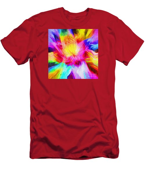 Men's T-Shirt (Slim Fit) featuring the photograph Floral Mandala 02 by Jack Torcello