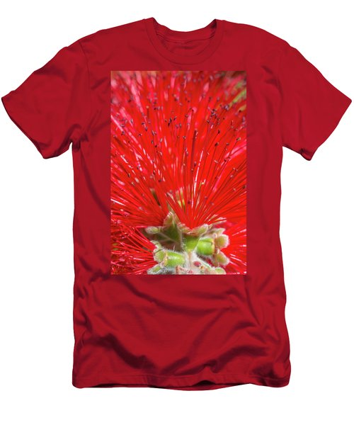 Floral Red Men's T-Shirt (Athletic Fit)