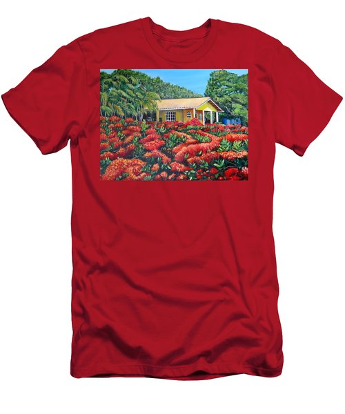 Floral Takeover Men's T-Shirt (Slim Fit) by Marilyn McNish