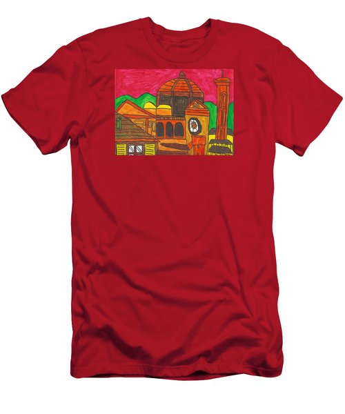 Men's T-Shirt (Slim Fit) featuring the painting Florence by Artists With Autism Inc