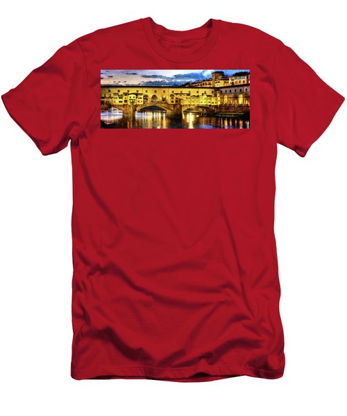 Florence - Ponte Vecchio Sunset From The Oltrarno - Vintage Version Men's T-Shirt (Athletic Fit)