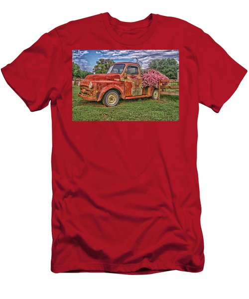 Dodge Flower Bed Men's T-Shirt (Athletic Fit)