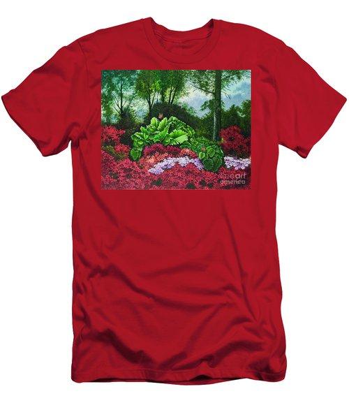 Flower Garden X Men's T-Shirt (Slim Fit) by Michael Frank