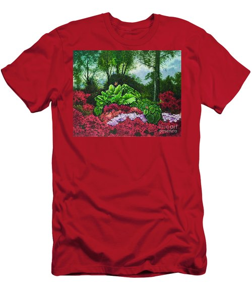 Flower Garden X Men's T-Shirt (Athletic Fit)