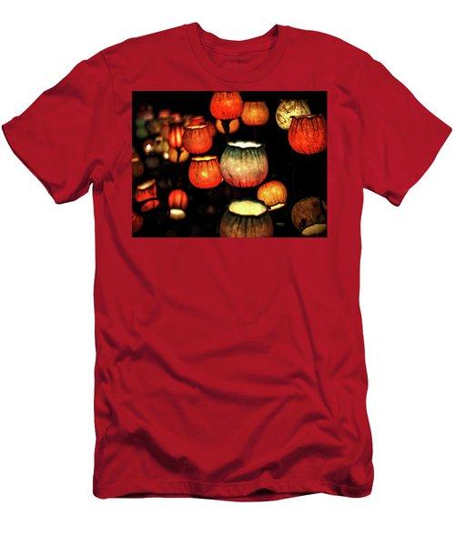 Flower Lamps Men's T-Shirt (Slim Fit) by Carol Crisafi