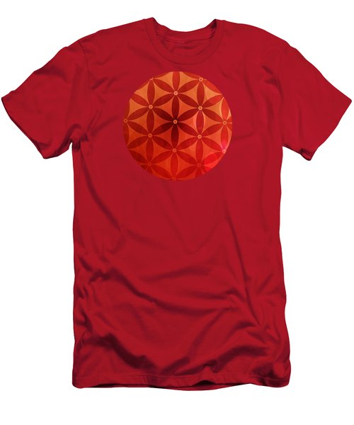 Flower Of Life  Men's T-Shirt (Slim Fit) by Serena King