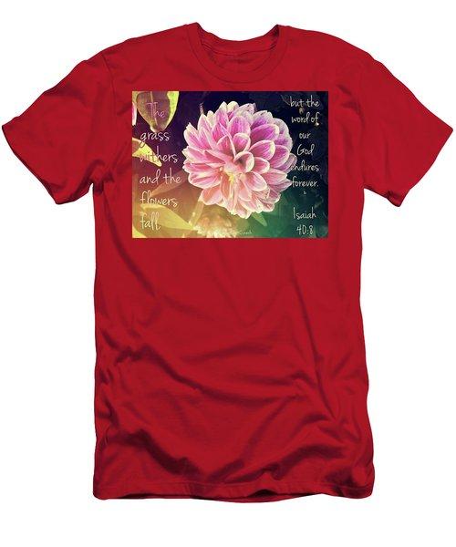Flower With Scripture Men's T-Shirt (Athletic Fit)