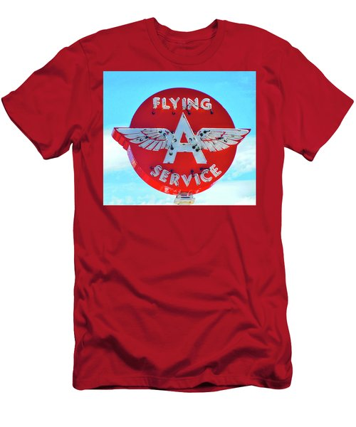 Flying A Service Sign Men's T-Shirt (Slim Fit) by Joan Reese