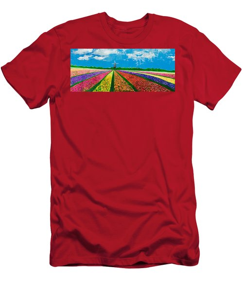 Follow The Rainbow Men's T-Shirt (Athletic Fit)