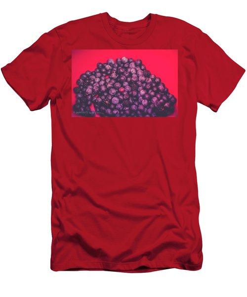 For The Love Of Berries Men's T-Shirt (Slim Fit) by Stefanie Silva