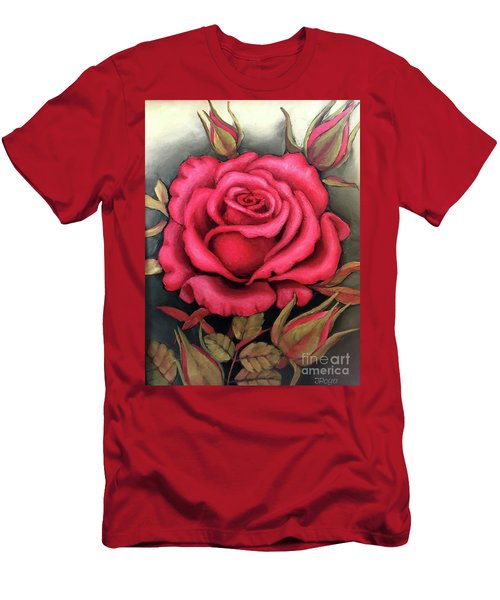 For You, The Red Rose Men's T-Shirt (Athletic Fit)