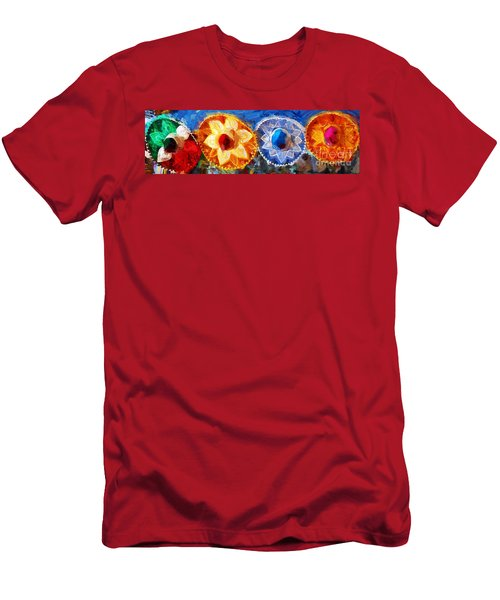 Men's T-Shirt (Slim Fit) featuring the photograph Four Amigos In Cozumel by Sue Melvin