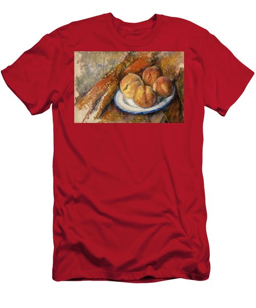 Four Peaches On A Plate Men's T-Shirt (Athletic Fit)