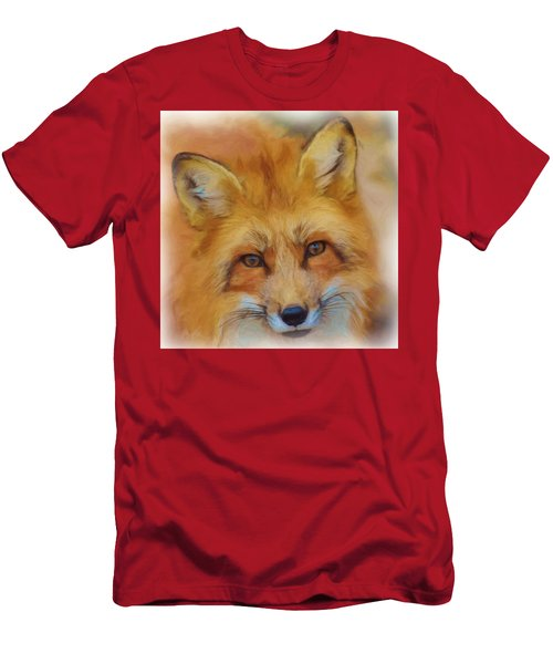 Fox Face Taken From Watercolour Painting Men's T-Shirt (Athletic Fit)