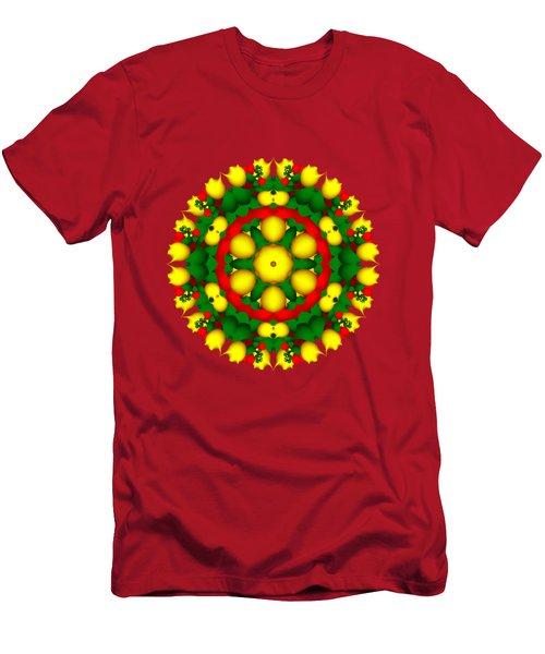 Fractal Christmas Wreath I Men's T-Shirt (Athletic Fit)